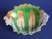 Stunning Shelley Harmony 'Drip' Ware Scrolled Dish c1930